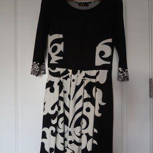 REBORN Black & White Knit Dress